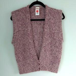 Vintage '80 St Michael women's mohair blend purple rose knitted vest size 10